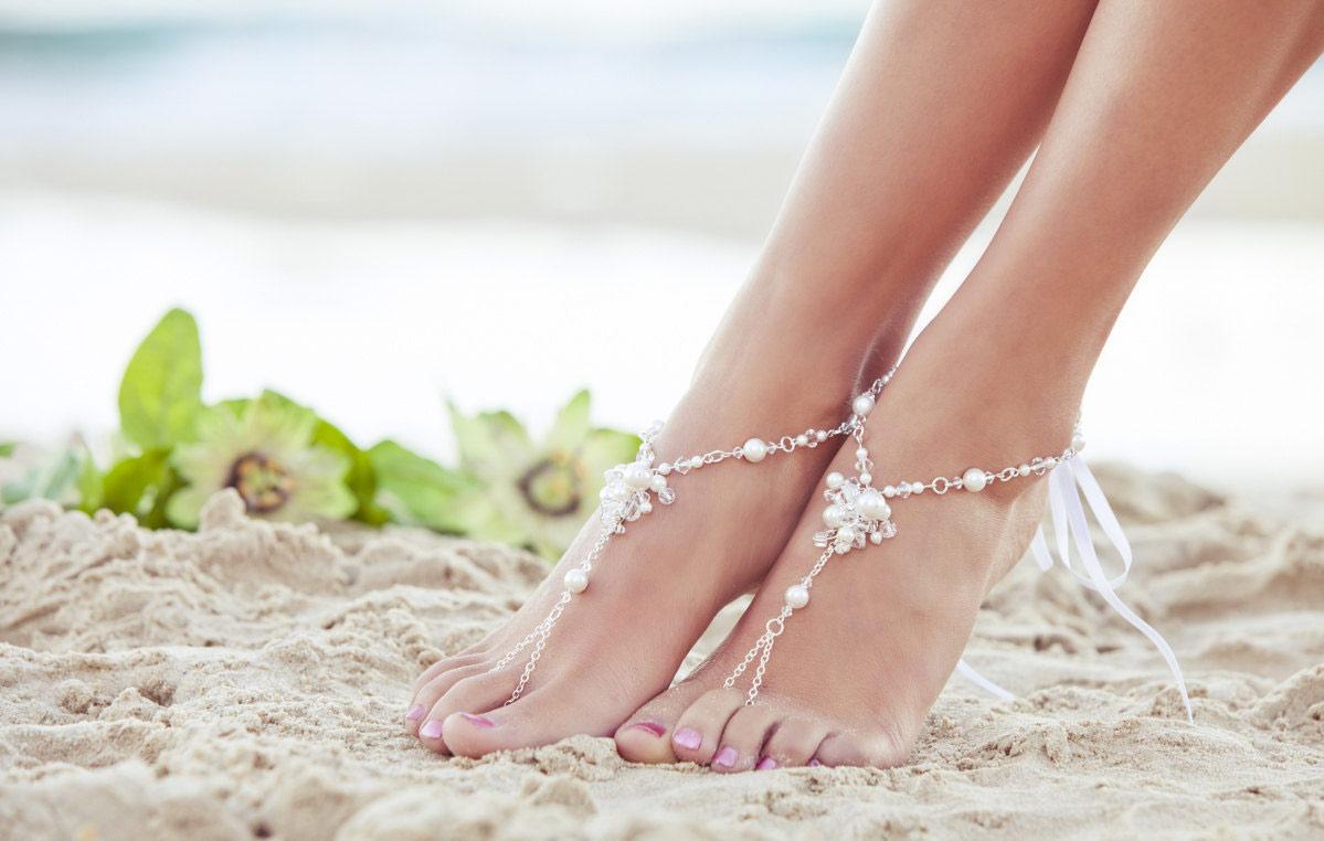 barefoot wedding shoes - photo #44